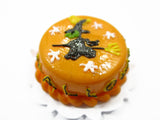 Dollhouse Miniatures Halloween Cake 2 cm Witch Seasonal Handmade Holiday 13976