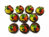 Dollhouse Miniatures Lot 10 Mini Mixed Fruit Tart Cake Bakery Food 14108