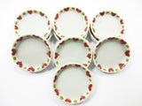25 mm 10 Pan Tray Plate Dollhouse Miniature Ceramic Food Kitchen Supply 14113