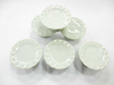 25 mm White Cake Bakery Ceramic Stand  Dollhouse Miniatures Cake Supply