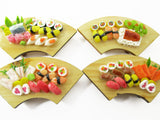 Dolls House Miniatures Japanese Food 4 Sushi Lunch Curve Box Wooden Supply 14119