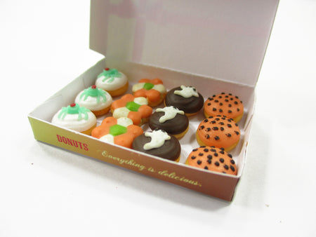 Dollhouse Miniatures Food Halloween seasonal Doughnut Paper Box Supply 14178