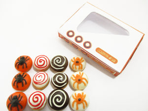 Dollhouse Miniatures Food Halloween seasonal Doughnut Paper Box Supply 14179