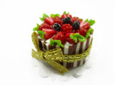 Dollhouse Miniatures Food 2.5 cm Fruit Strawberry Cake Handmade Dessert 14192