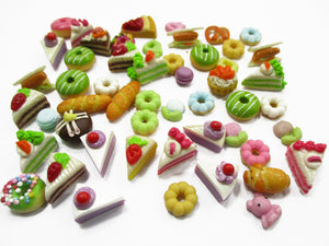 Dollhouse Miniatures Food Lot 50 Mixed Loose Bread Bakery WHOLESALE 14499