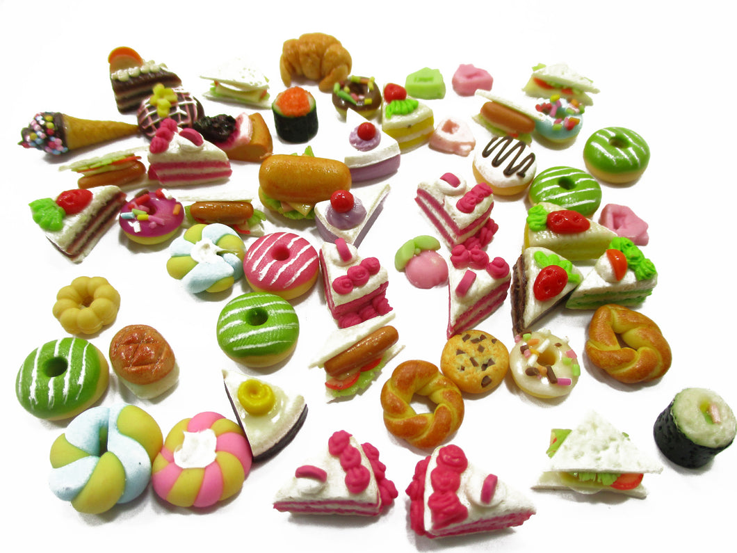 Dollhouse Miniatures Food Lot 50 Mixed Loose Bread Bakery WHOLESALE 14501
