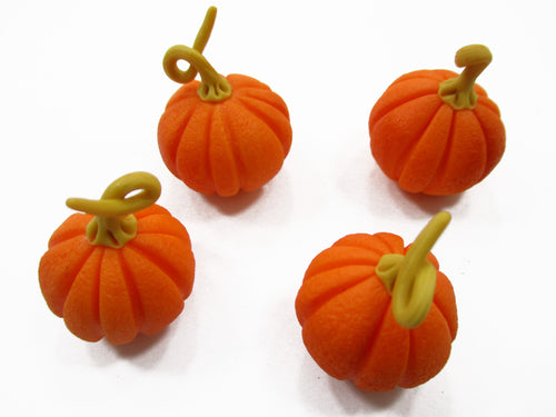 Dollhouse Miniatures Food 4 Orange Pumpkin 1:6 Barbie Blythe Vegetable 14654