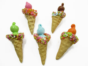 Dollhouse Miniature Food 5 Color Ice Cream Soft Serve Barbie Blythe 14662