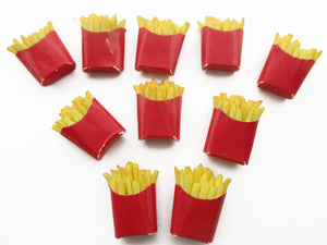 Dollhouse Miniatures Food French Fries Bag Fast Food Set Supply