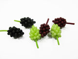 Dollhouse Miniatures Food Lot 12 Mixed Grapes Handmade Fruit Supply Charms 14824