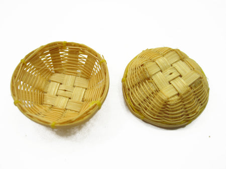 Dollhouse Miniature Wicker 3 cm Bread Vegetable Fruit / Crisp Basket