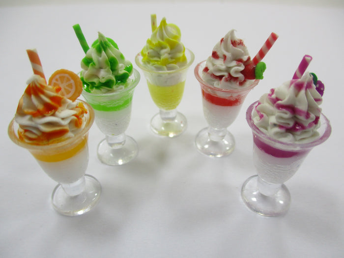 Dollhouse Miniature Food 5 Ice Cream Beverage Dollhouse Food Accessories 14835