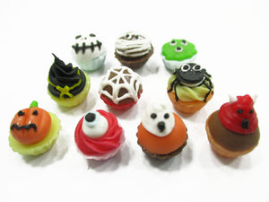 Dollhouse Food Accessories 10 Halloween Cup Cake Bakery Miniature Supply 14912
