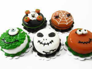 Dollhouse Miniatures Halloween 5 Cake 2 cm Seasonal Handmade Holiday 14914