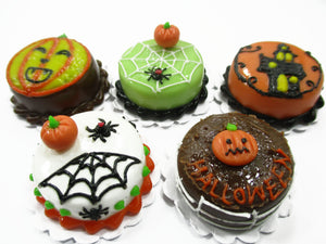 Dollhouse Miniatures Halloween 5 Cake 2 cm Seasonal Handmade Holiday 14916