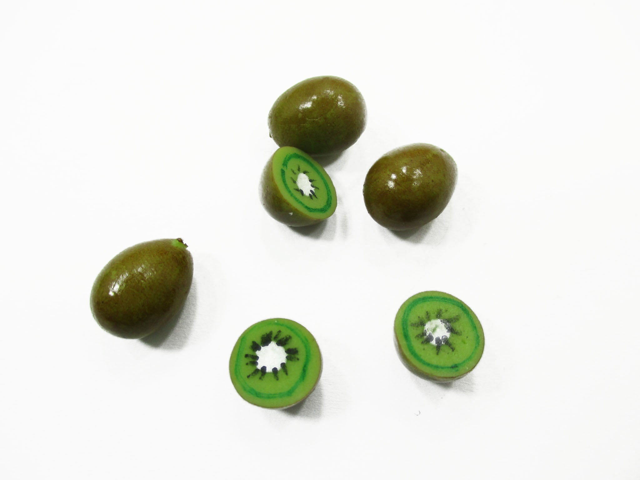 Dollhouse Food Accessories 10 Kiwi Fruit Dollhouse Miniature Loose Food 14954