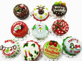 Dollhouse Christmas 10 Cake 2 cm Holiday Seasonal Miniature Christmas 14982