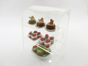 Dollhouse Miniature Acrylic Bakery Cake Display Counter Shop Supply 15148
