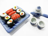 Dollhouse Miniature Japanese Food Ceramic Lunch Set Dollhouse Food Supply 15218