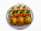 Dollhouse Miniature Food Fruit Pastry On Silver Tray Bakery Pie Supply 15231