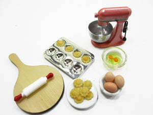 Dollhouse Miniature Food Bakery Cookie Preparation Kitchen Accessories 15232