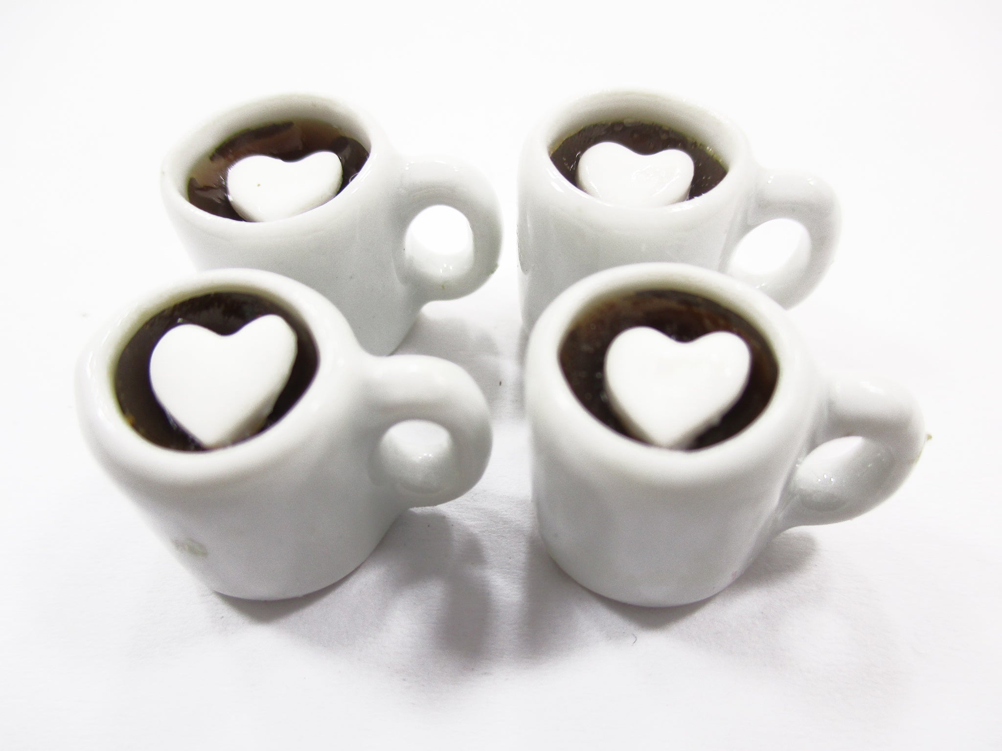 4 CUPS OF BLACK COFFEE DOLL HOUSE MINIATURE