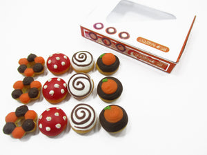 Dollhouse Miniatures Food Halloween seasonal Doughnut Paper Box Supply 15434