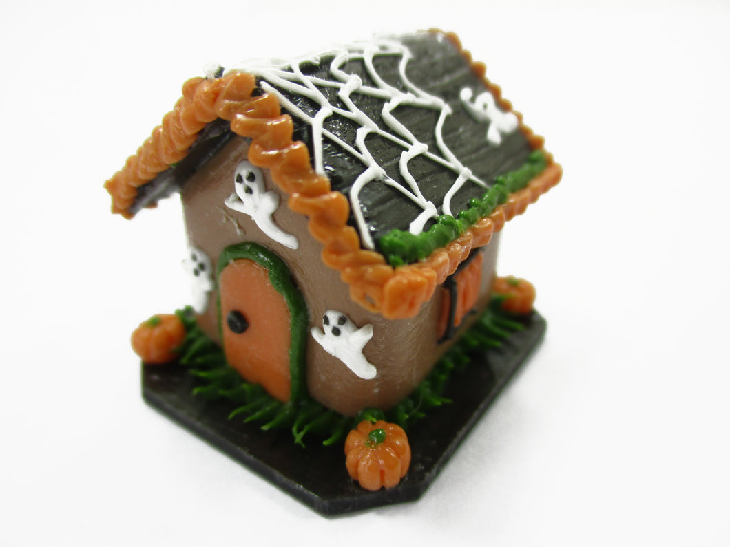 Dollhouse Miniature Halloween Gingerbread House Spider Web Holiday 15436