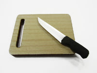Kitchen Cooking Knife Wooden Cutting Board Dollhouse Miniature Supply 15478
