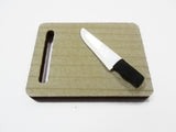 Kitchen Cooking Meat Knife Cutting Wooden Board Dollhouse Miniature 15479