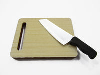 Kitchen Cooking Knife Wooden Cutting Board Dollhouse Miniature Supply 15480