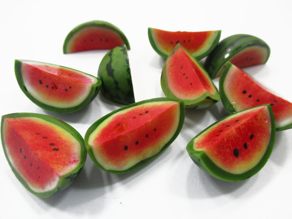 Dollhouse Miniature Food Lot 10 Slice Watermelon Loose Fruit Supply 15530