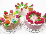 Dollhouse Miniature Food 24 Cuts Cake Assorted Color Rose Flower Topping 15585