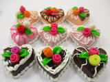 Dollhouse Miniatures Food Cakes 9 Chocolate Rose Flower Cake 1.5 cm Supply 15603