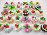 Dollhouse Miniature Food 30 Mixed Color Rose Flower Cake 1.5 cm WHOLESALE 15665