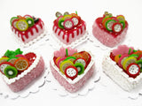 Dollhouse Miniatures Food 2 cm 6 Mixed Color Fruit Cake Bakery Supply 15703