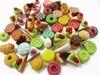 Dollhouse Miniatures Food Lot 50 Mixed Loose Bread Bakery WHOLESALE 15781