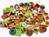 Dollhouse Miniatures Food Lot 50 Mixed Loose Bread Bakery WHOLESALE 15790