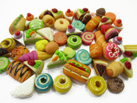 Dollhouse Miniatures Food Lot 50 Mixed Loose Bread Bakery WHOLESALE 15796
