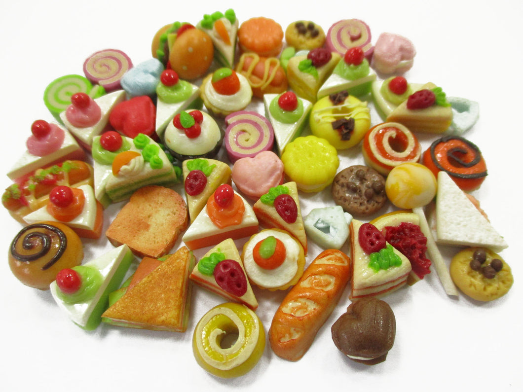 Dollhouse Miniatures Food Lot 50 Mixed Loose Bread Bakery WHOLESALE 15811