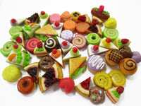 Dollhouse Miniatures Food Lot 50 Mixed Loose Bread Bakery WHOLESALE 15815