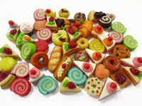 Dollhouse Miniatures Food Lot 50 Mixed Loose Bread Bakery WHOLESALE 15822