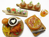 Dollhouse Miniature Food Cup Cake Bakery Pizza Fast Food Set Tiny Supply 15825