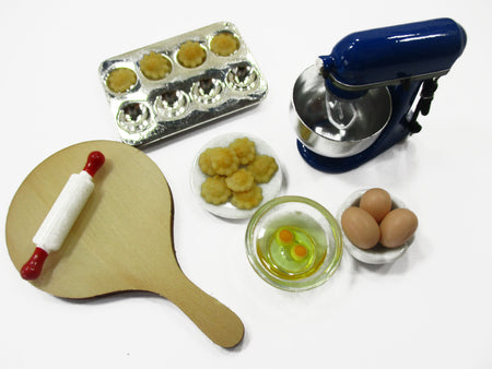 Dollhouse Miniature Bakery Cookie Preparation Kitchen Mixer Accessories 15838