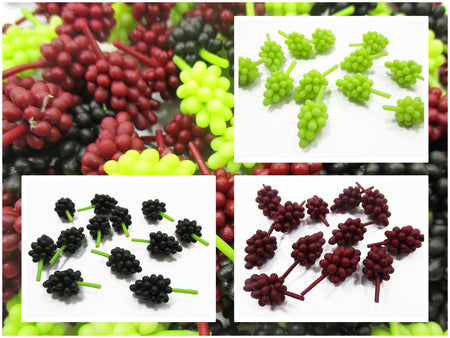 Dollhouse Miniatures Food Lot 12 Grapes Handmade Fruit Supply Charms