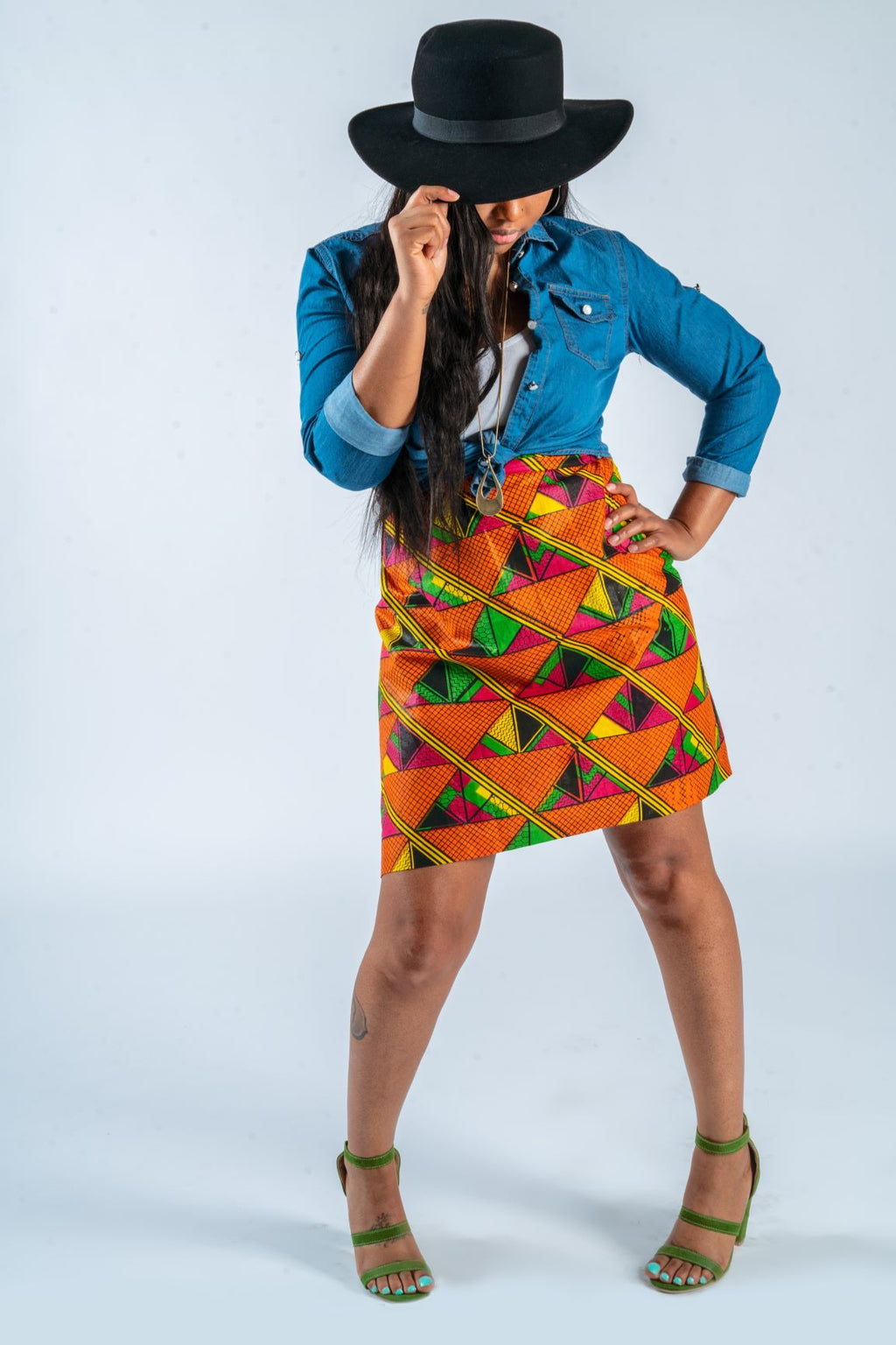MBL Original Ankara Wrap Skirt