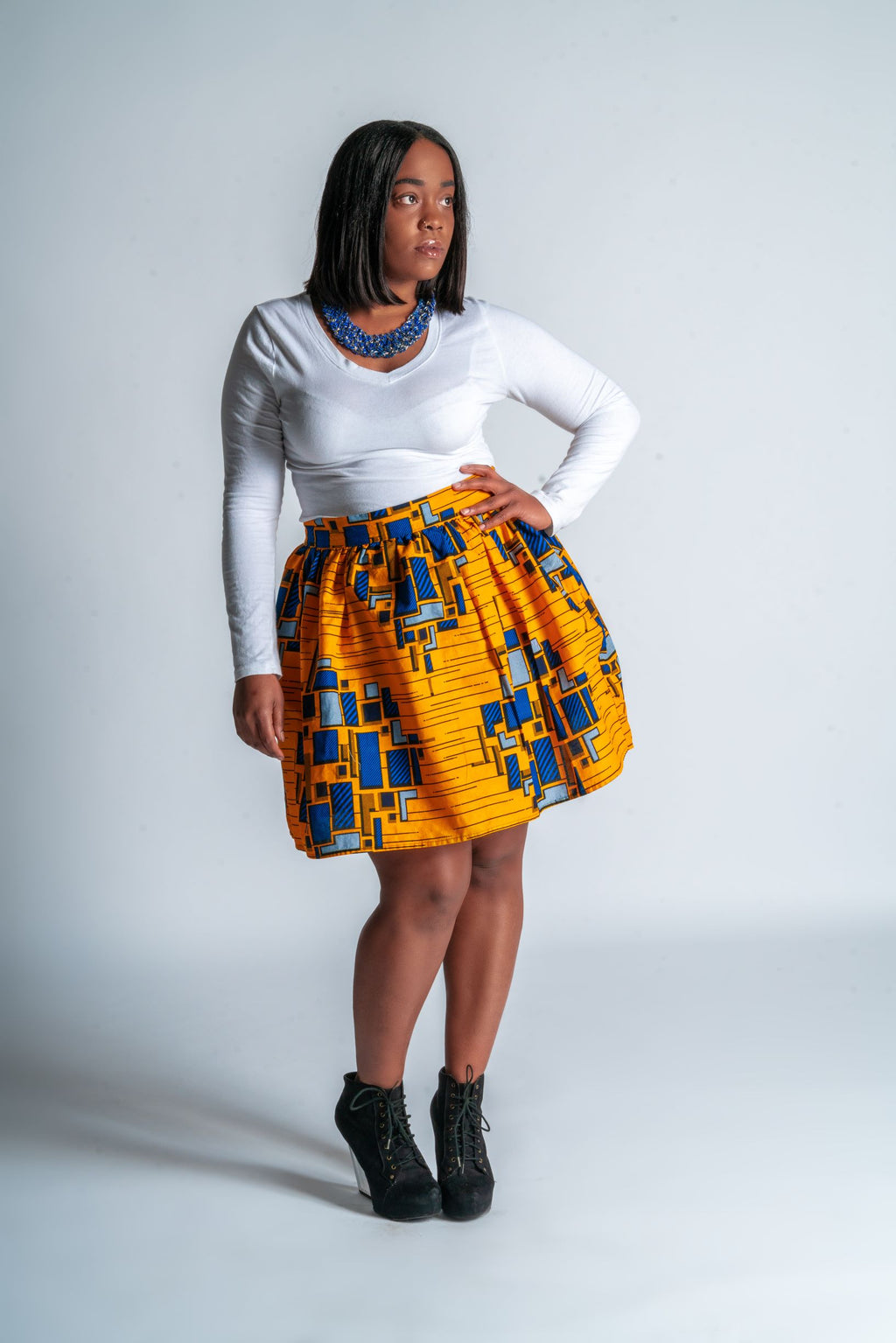 Ankara High Waist Skirt