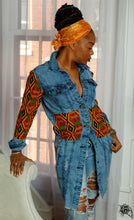 Load image into Gallery viewer, Custom Jean Jacket- Ankara