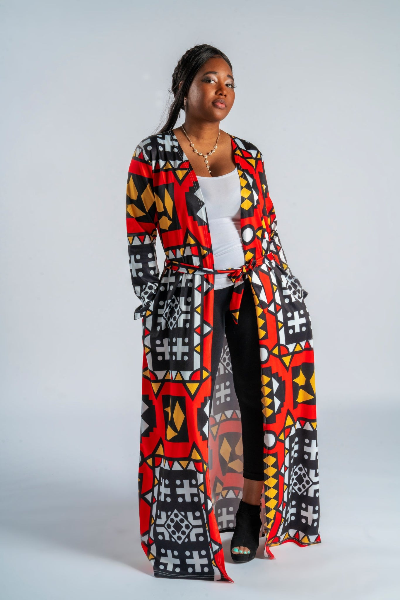 Long sleeve Ankara duster
