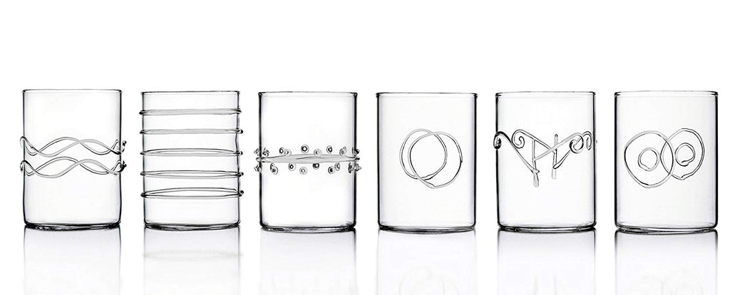 Clear Deco Glasses (Set of 6)